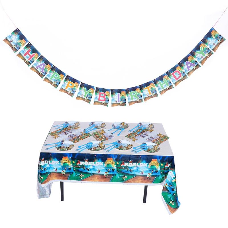 Mantel con Diseño de Ladrillo Lego Decoración de Cumpleaños