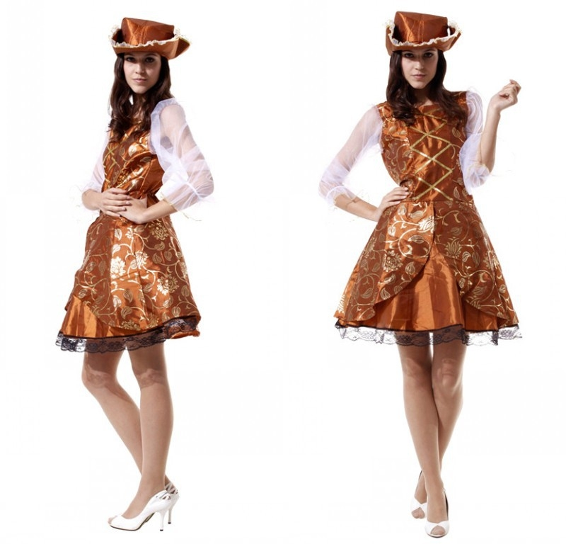 Disfraz de Capitán Garfio DIY Vestido Dorado