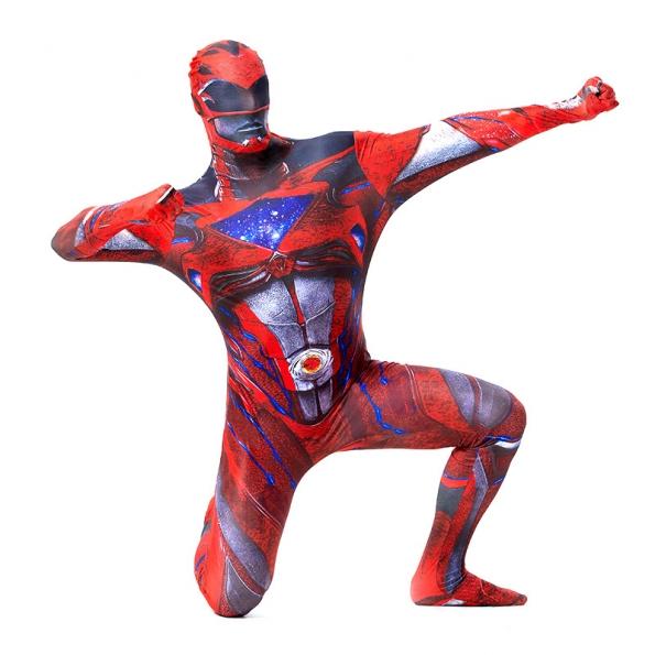 Equipo de Dinosaurios Pantalones de una Pieza Rojo Disfraces de Superhéroe