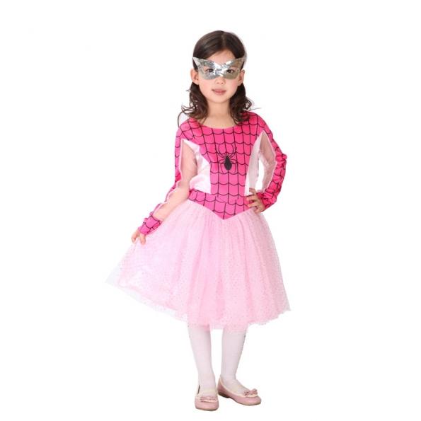 Disfraz de Spiderman para Niños Vestido Rosa