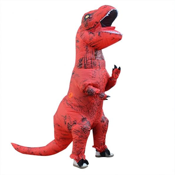 Tiranosaurio de Músculo Rojo Disfraces Inflables