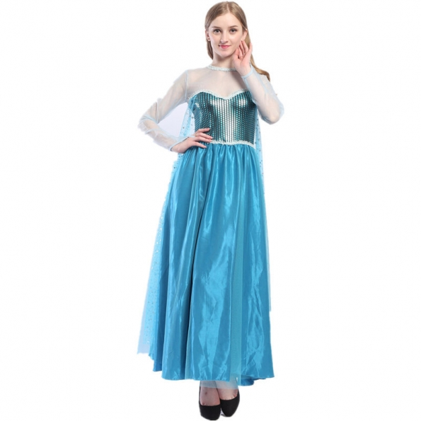 Disfraces Princesa Anna de Nieve y Hielo Vestido de Halloween