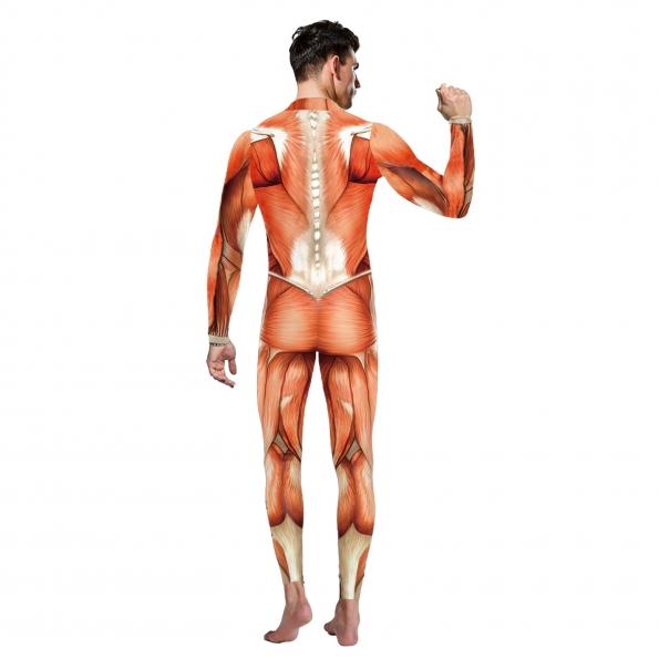 Disfraces de Musculoso Mono Estampado Halloween para Hombre