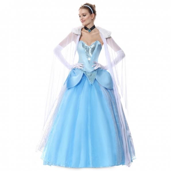 Disfraces Reina Elsa Vestido de Halloween para Mujer