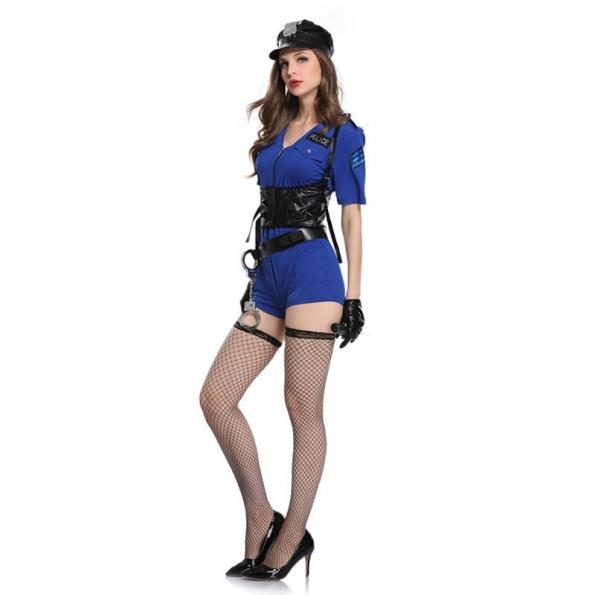 Disfraces Uniforme de Mujer Sexy Policía de Halloween