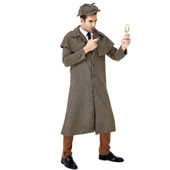 Disfraces  Sherlock Holmes Mismo Estilo Británico de Halloween Divertidos para Hombres