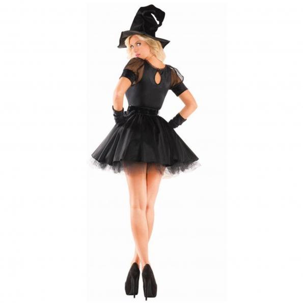 Disfraces de Bruja Temperamento Fantasma Vestido de Halloween