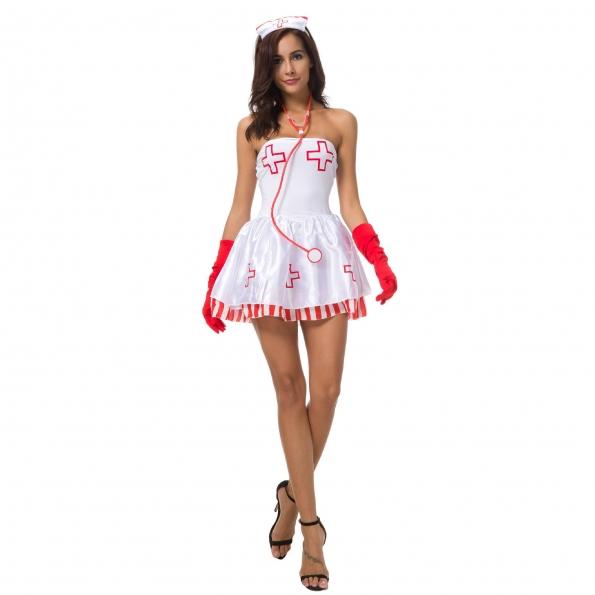 Disfraces de Enfermera de Encaje Sexy Traje de Halloween