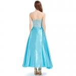 Disfraz de Princesa de Hadas Sexy Azul Claro Vestido Largo para Adulto