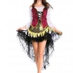 Disfraces de Halloween Falda Pirata para Mujer