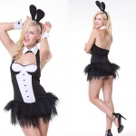 Disfraces Conejita con Espalda Descubierta Traje de Halloween