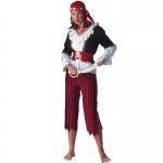 Disfraces de Piratas del Caribe Ropa de Mujer a Rayas