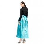 Disfraces de la Princesa Elsa Anna de Hielo y Nieve Vestido con Lentejuelas de Halloween para Mujer