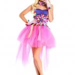 Disfraces de payaso de circo Vestido de princesa de honda colorida de Halloween