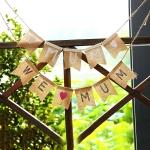 Tema del Día de la Madre Tire de la Bandera Decoración de Vacaciones