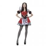 Disfraces Reina de Corazones Poker de Halloween Divertidos para Mujer