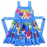 Vestido de Tirantes Estampado con Disfraz de Tiburón Bebé