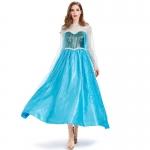 Disfraz de Reina de Cuento de Hadas Azul para Mujer