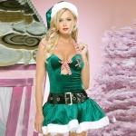 Disfraces Vestido de Navidad Verde de Halloween