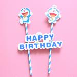 Adornos de Personajes de Dibujos Animados de Decoración de Cumpleaños