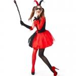 Disfraces Payaso de Harley Quinn Ropa de Halloween para Adultos