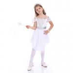 Disfraces Vestido de Princesa de Ángel Blanco de Halloween para Niñas