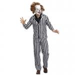 Disfraces Payaso Alma Rayas Blancas Y Negras Halloween para Hombre