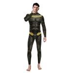 Disfraces de Pantera Negra Mono con Estampado de Halloween para Hombres