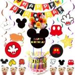 Mickey Ratón Bandera Colgante Cumpleaños Decoración