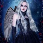 Decoraciones de Halloween Alas de Ángel Blancas