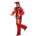 Traje de Fuego Rojo Militar Disfraz para Hombre