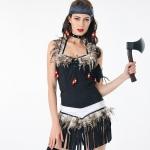 Disfraces Indios Tassel Savage de Halloween para Mujer