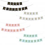 Bandera del Tirón del Alfabeto de las Decoraciones de la Boda