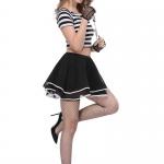 Disfraces de Prisioneros Uniforme de Rayas de Halloween para Mujer