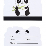 Equipo de Vajilla Panda para Decoración de Cumpleaños