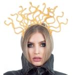 Accesorios de Halloween Medusa Sombrero de Serpiente de Plástico