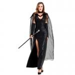 Disfraces de Vampiro Vestido de Bruja Fantasma Negro de Halloween