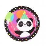Dibujos Animados Panda Patrón Vajilla Cumpleaños Decoración