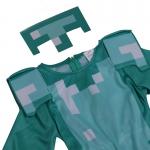 Disfraz de personaje de armadura de diamante clásico de Minecraft para infantil