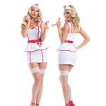 Disfraces Enfermera Sexy Traje Blanco de Halloween