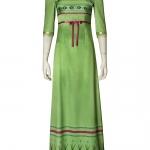 Disfraces de Frozen 2 Anna Green Dress Cosplay