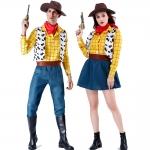 Disfrazde Vaquero Occidental Woody de Toy Story de Pareja