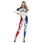 Disfraces de Harley Quinn Juego Traje Estampado Halloween