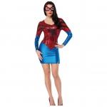 Disfraces de Spiderman Superwoman Vestido Halloween para Mujer