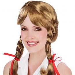 Accesorios de Halloween Frozen Anna Brown Pelucas