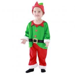 Disfraces Navidad de Elfo Verde de Halloween para Bebés y Niños