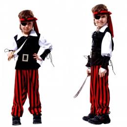 Disfraz de Capitán Garfio para Niño Tuerto