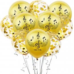 Nota Musical Conjunto de Impresión Globos de Cumpleaños