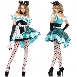 Disfraces Princesa Alicia Mickey Vestido De Halloween Para Mujer