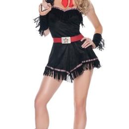Disfraces de Halloween Traje Punk con Flecos Sexy